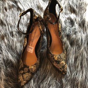 Black and gold Christian Siriano heels size 7